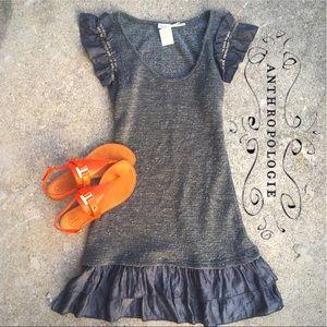 NWT Anthropologie bluebird dress with ruffle trim